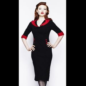 HELL BUNNY Vintage Thelma Pencil Wiggle Dress